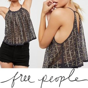 NWT Free People Atlantis Tank Small Embellished
